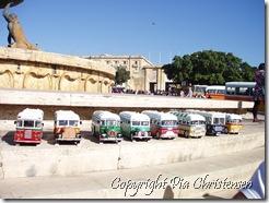 Minibusser i Valletta