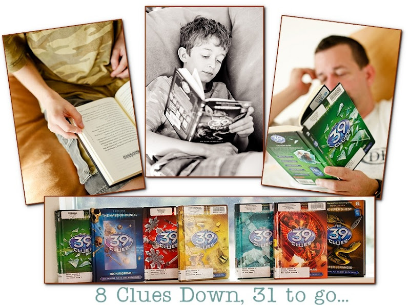 39 clues collage