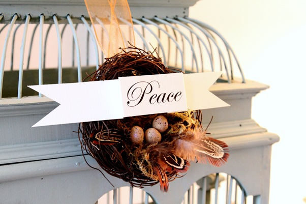 bird nest ornament