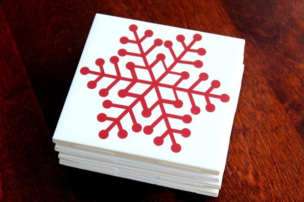 snowflake tiles