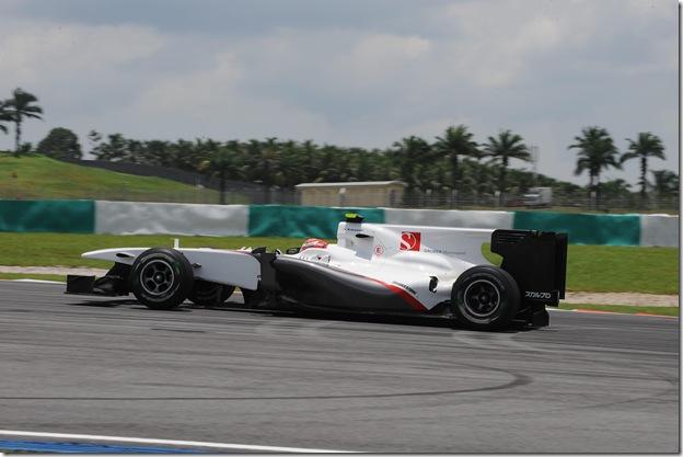 F1DataBase - Kamui Kobayashi, Sauber - Malásia 2010