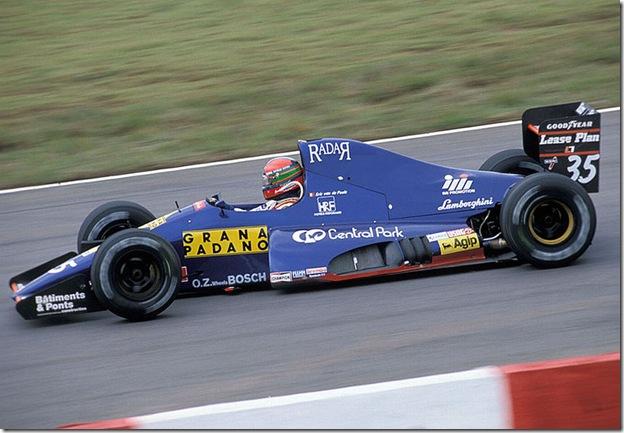 F1DataBase - Eric Van De Poele - Brasil 1991