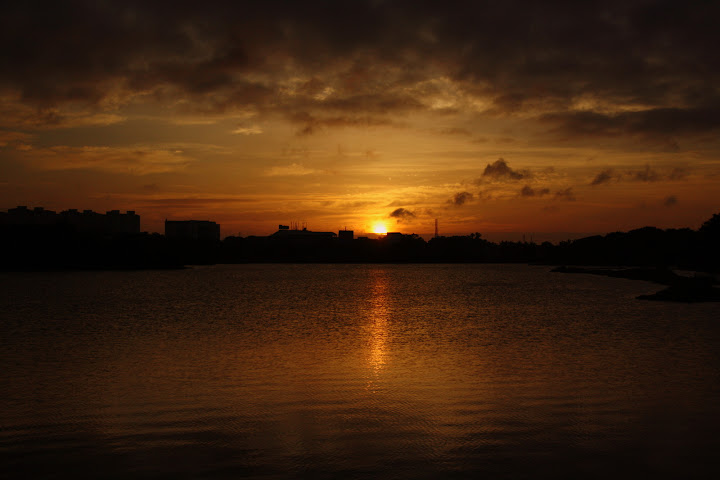 Sunrise View at Hebbal Lake