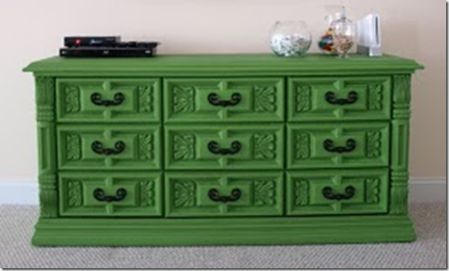 Green dresser @ Less than perfect life of bliss