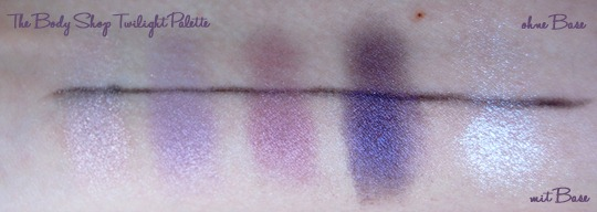The Body Shop Twilight Palette Swatches