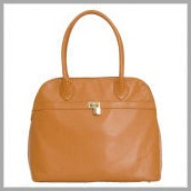 Kathy-Ireland-by-Murval-5th-Avenue-Grainy-Faux-Leather-Handbag-in-Cognac