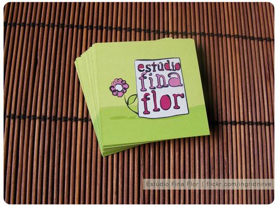 Cartões de visita Estúdio Fina Flor