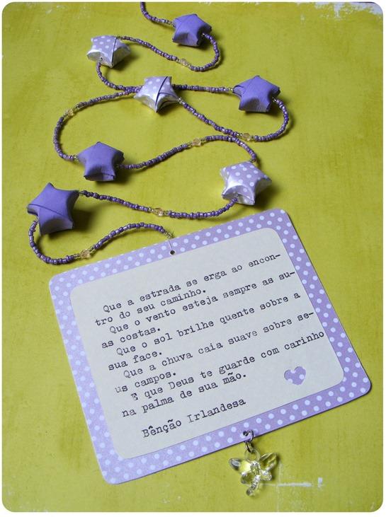 Móbile de origami - Estrelas