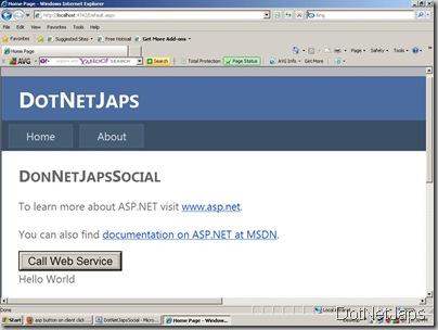 WebServicePage call from JavaScript,Javascript