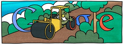 76th Birthday Of Roger Hargreaves-Mr Slow Google Doodle Logo