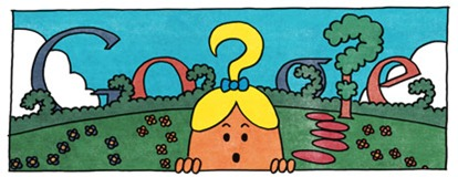 76th Birthday Of Roger Hargreaves-Little Miss Curious Google Doodle Logo