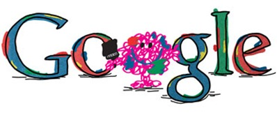 76th Birthday Of Roger Hargreaves-Mr Messy Google Doodle Logo