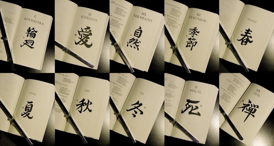 1000 japán vers kalligráfiái