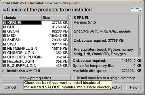 Screenshot-SALOME v5.1.5 Installation Wizard - Step 5 of 8