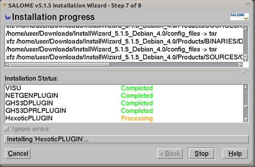 Screenshot-SALOME v5.1.5 Installation Wizard - Step 7 of 8