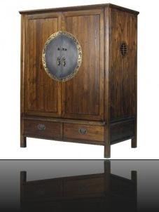 armoire bois asiatique