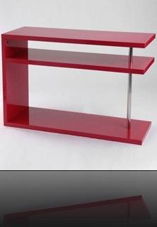 Console contemporaine rouge