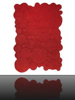 tapis tufté main rouge2