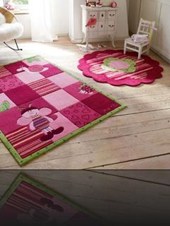 TAPIS TUFTE ROSE