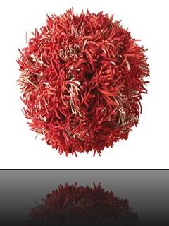 décoration rouge