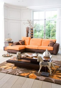 déco maison orange et marron