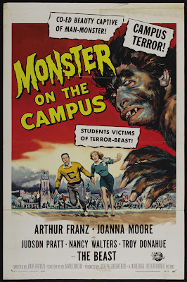 Monster on the Campus (1958, USA) movie poster