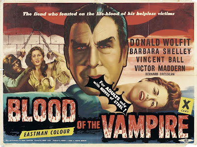 Blood of the Vampire (1958, UK) movie poster