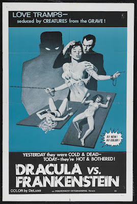Dracula vs. Frankenstein (1971, USA) movie poster
