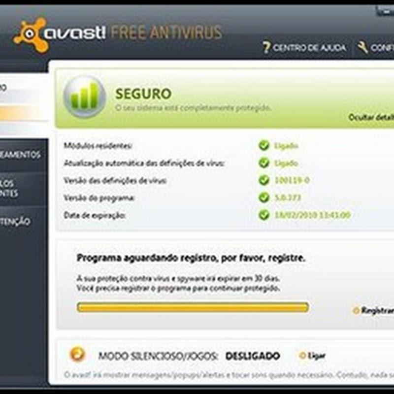 Avast 5 gratuito,faça o Download