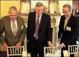 Néstor Kirchner y  David Rockefeller