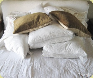 too many pillows