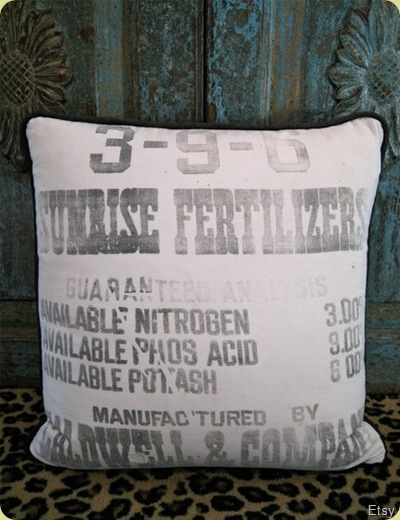 fertilizer bag pillow