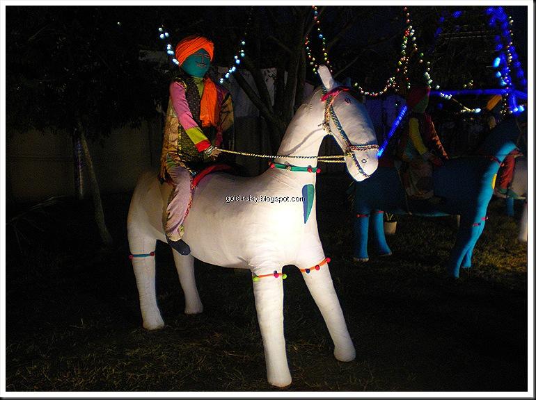 horse and villageman