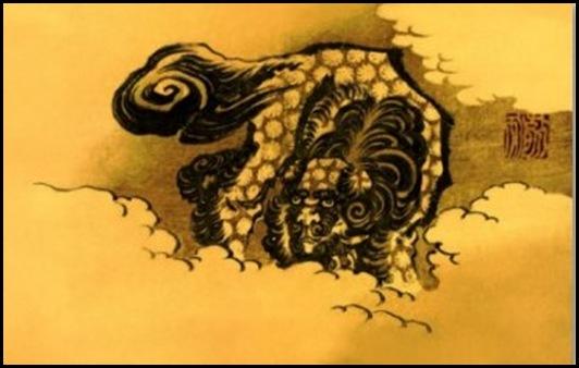 Hokusai - Bestiario dog