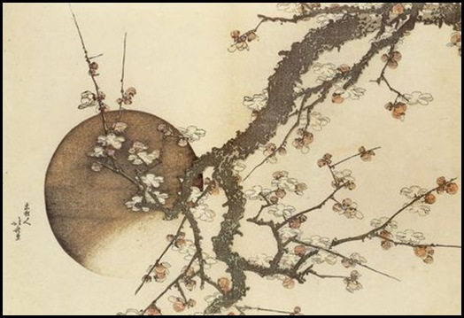 Hokusai Plum-Blossom-and-the-Moon