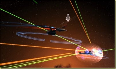 Fleet actions.  Think of them as pug 15-20 man raids.  (Be glad you're not the npc klingon mob everyone's targeting)