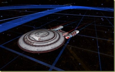 Another view - it's almost the vanilla Galaxy, but with a circular primary hull instead of the Galaxy's oval one.