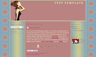 Blogger Twmplate - Lady Flower