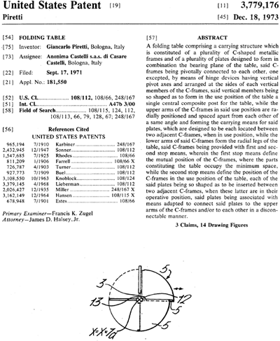 Plano table US Patent