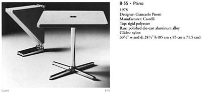 Square top Plano table