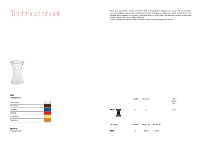 Techincal data sheet for Stone stool