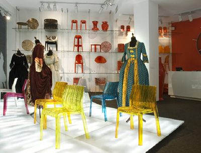 Kartell flagship, Frilly chair