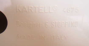Kartell Stoppino 4675 magazine rack,white