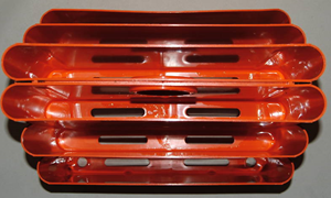 Kartell Stoppino 4675 magazine rack,orange