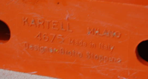 Kartell Stoppino 4675 magazine rack,orange