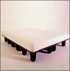 Centopiedi bed, black
