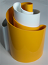 Deda vase yellow/white