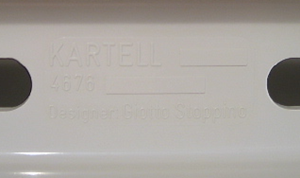 Kartell Stoppino 4676 magazine rack, white imprint