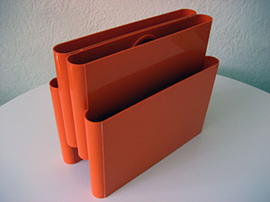Kartell Stoppino 4676 magazine rack, orange