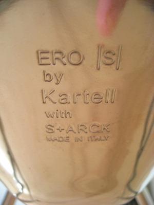 Ero|S| engraved imprint, fixed leg base